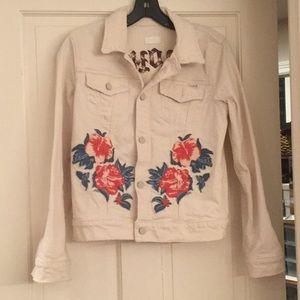 MOTHER cream colored denim jacket